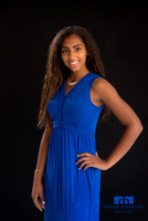 Portrait of Teen in Blue Dress | Northern Virginia Family Photographer