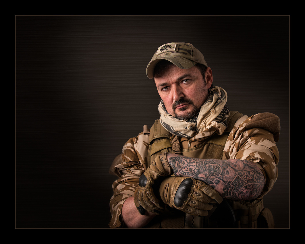 """Big Bad John"" by Roger Hammons is an award-winning portrait of a combat sniper."