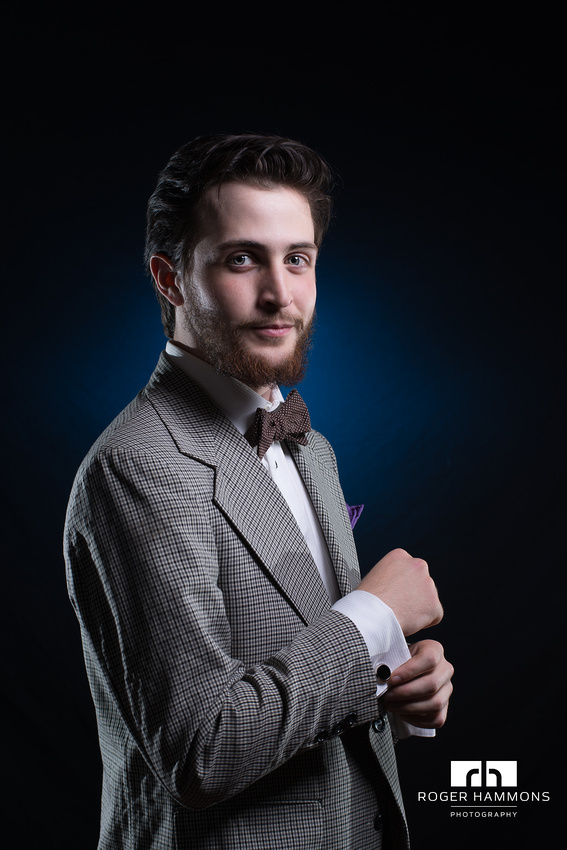 Portrait of a Dapper DJ by Northern Virginia Wedding and Portrait Photographer Roger Hammons
