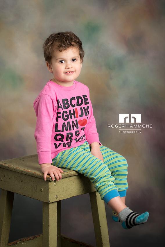 Toddler Pajama Portrait   Northern Virginia Portrait Photographer